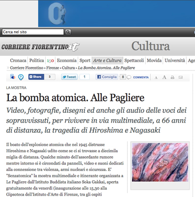2011-03-25 Online su Il Corriere Fiorentino