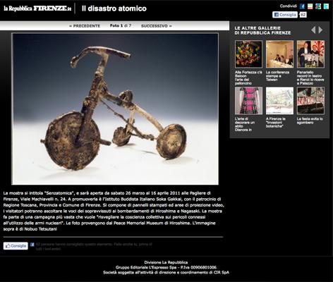 2011-03-25 Online su La Repubblica Firenze