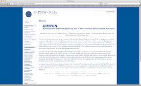 IPPNW Italia – nuovo sito