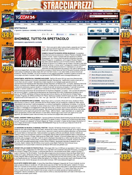 2013-02-27 TgCom24 – Shobiz, Tutto Fa Spettacolo