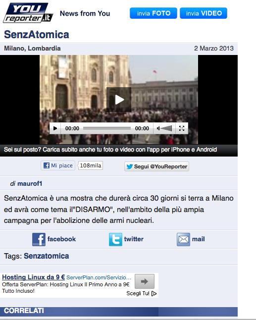 2013-03-04 YouReporter | Senzatomica Video Flashmob