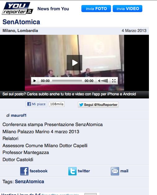 2013-03-04 YouReporter | Senzatomica Video Conferenza Stampa