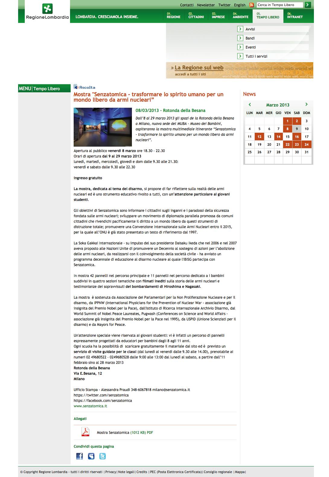 2013-03-05  Regione Lombardia | Tempo Libero