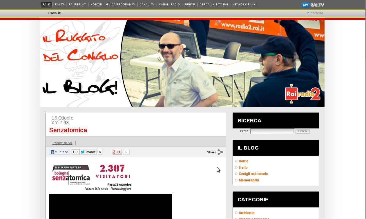 2013-10-16 Blog Il Ruggito del oniglio – Radio2