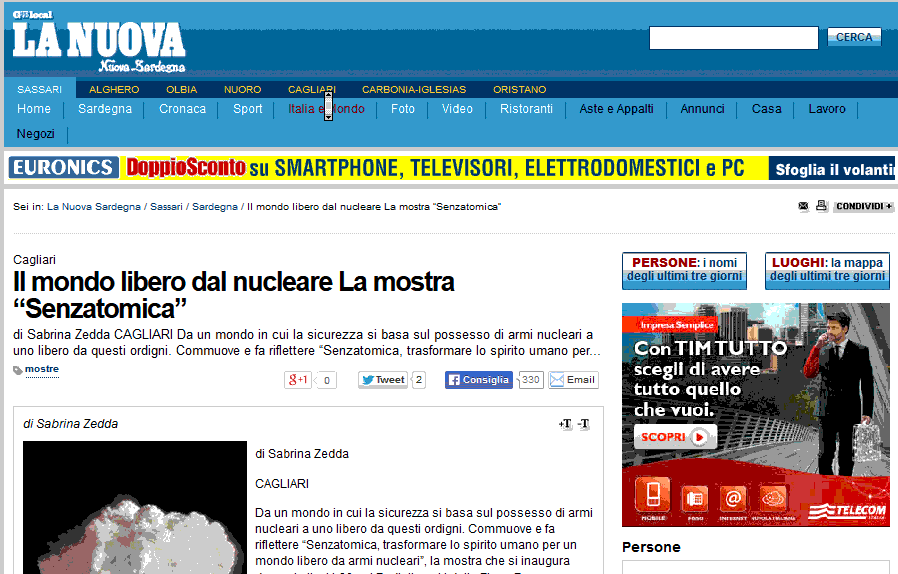 2013-12-01 La Nuova Sardegna