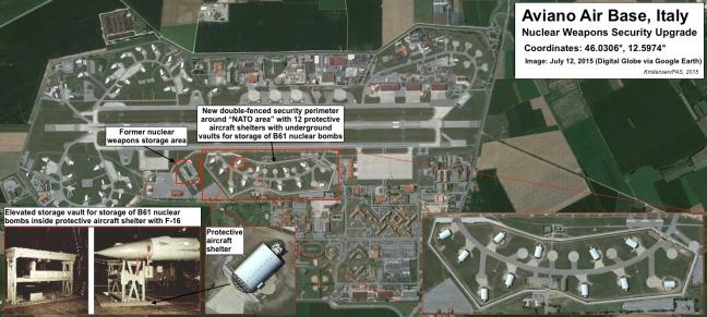 Le bombe atomiche in Italia non sono al sicuro