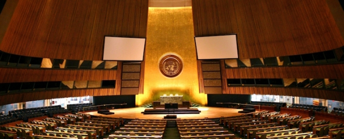 Photo: UN General Assembly Hall. Credit: Wikimedia Commons.